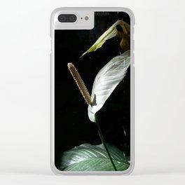 """Spathiphyllum cannifolium - """"pride"""" Clear iPhone Case"""