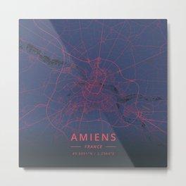 Amiens, France - Neon Metal Print