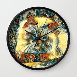 AnimalArt_Cat_20170907_by_JAMColorsSpecial Wall Clock