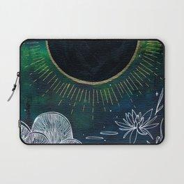 New Moon Original Mixed Media Painting Laptop Sleeve