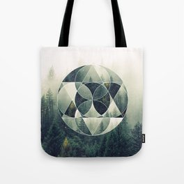 Geometric Forest Tote Bag