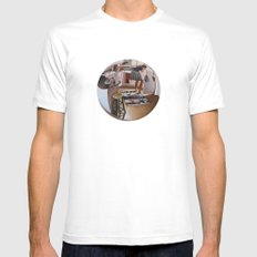 6:39 PM White MEDIUM Mens Fitted Tee