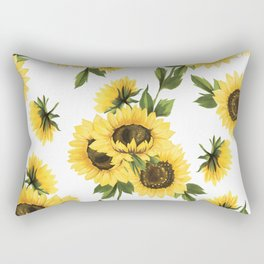 Lovely Sunflower Rectangular Pillow