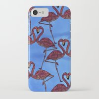 flamingos iPhone & iPod Cases featuring Flamingos by Ben Geiger