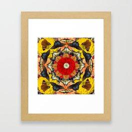 Persian carpet butterflies Framed Art Print