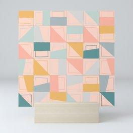 Pink Grid Mini Art Print