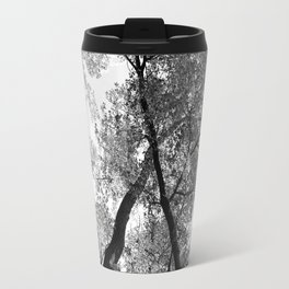 Looking Up in Black and White Travel Mug