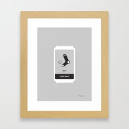 South Chicago Baseball Ticket (24 of 30) Framed Art Print