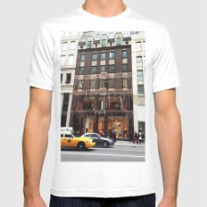 Fendi New York Mens Fitted Tee MEDIUM White
