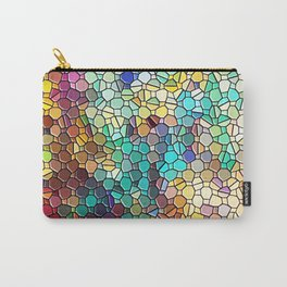 Decorative Rainbow Tiled Mosaic Abstract Carry-All Pouch