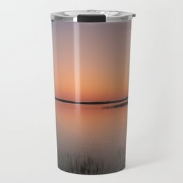 Sunset On A Calm Lake Travel Mug