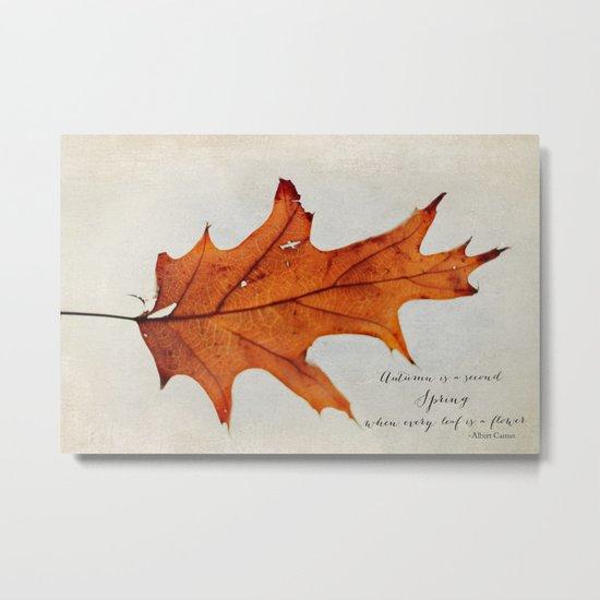 this autumn leaf Metal Print
