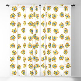 Sunflower pattern by Adam Cooley Blackout Curtain