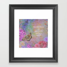 Beautiful Dreams Framed Art Print