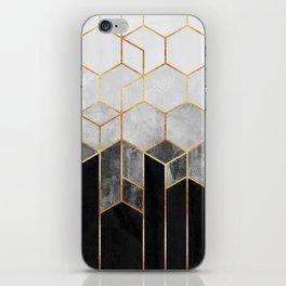 Charcoal Hexagons iPhone Skin