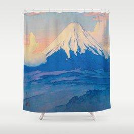Fuji-san from Yamanaka Vintage Beautiful Japanese Woodblock Print Hiroshi Yoshida Shower Curtain