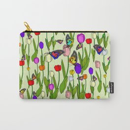 Fresh Tulips and Butterflies Carry-All Pouch