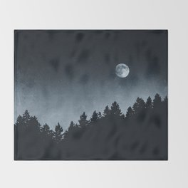 Under Moonlight Throw Blanket