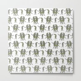 Dancing Lizards Metal Print