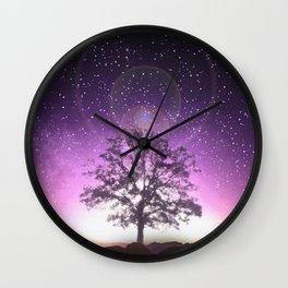 Purple Twilight Wall Clock