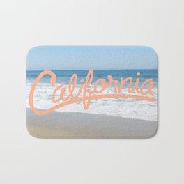 California Vibes in Coral Bath Mat