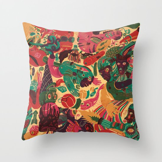 Sense Improvisation Throw Pillow
