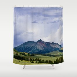 Electric Peak Yellowstone Shower Curtain