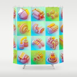 Infernal Machines Shower Curtain
