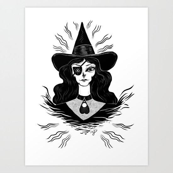 Spirit Dimension Witch Art Print