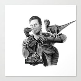Owen and Raptors Canvas Print
