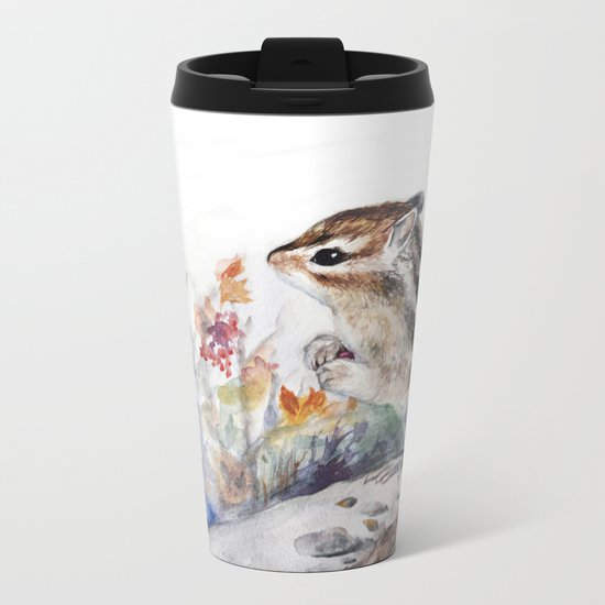 Chipmunk Metal Travel Mug