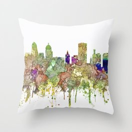 Buffalo, New York Skyline SG - Faded Glory Throw Pillow