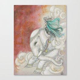 Climbing Ganesha Canvas Print