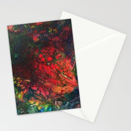 Red Center Glowing Core Stationery Cards