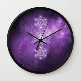 Sacred Geometry - We are Stardust Wall Clock