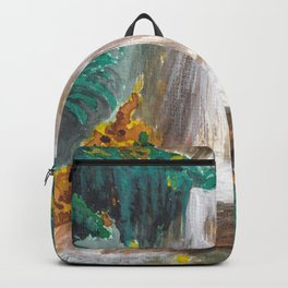 Waterfall, Autumn colors, Seattle Backpack