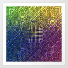 Textured Ombre Art Print