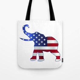 Republican Elephant Flag Tote Bag