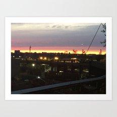 Sunset on the Highline Art Print
