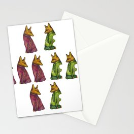 Fox Trot Mixup Stationery Cards