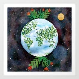 Big Green Earth  Art Print