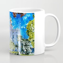 St. George LDS Temple Watercolor - Gold Lining Coffee Mug