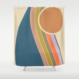 Pastel Sunrise Shower Curtain