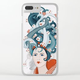 Rococo: Queen of Hearts Clear iPhone Case