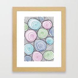 neon marbles Framed Art Print
