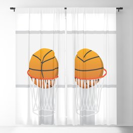 Basketball in basket Blackout Curtain