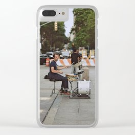 Drummer in the Park Clear iPhone Case
