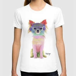Colorful Chihuahua Dog Art By Daniel MacGregor T-shirt