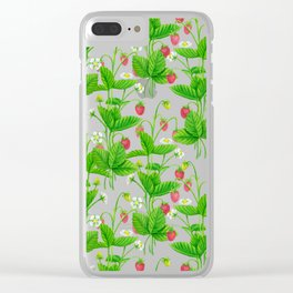 Strawberry garden Clear iPhone Case