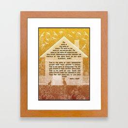 My Home - Baha'i quotation Framed Art Print